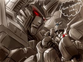 Menasor and HotRod by Aiuke