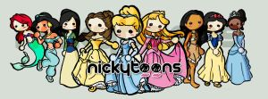 Disney Princesses by NickyToons