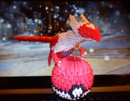 3D origami Latias by Spkmw