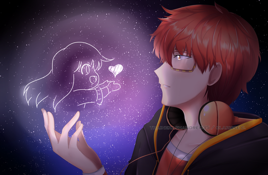 You , Me and the Space by TrainerAshandRed35