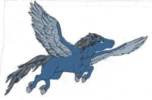 The Kingwood High Pegasus by AlBhed-Chocobo