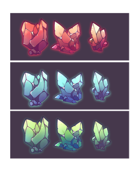 Free source crystal icons by Epic-Soldier