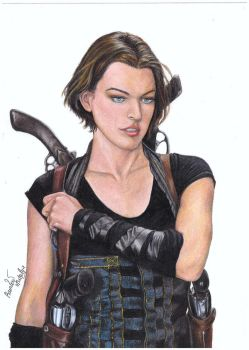 Alice from resident evil by RainbowNatalia
