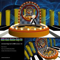 MMD Music Machine Stage Set by Trackdancer