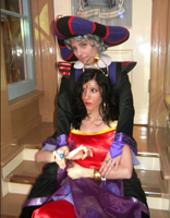 Frollo and Esmeralda cosplay by ChristineFrollophile