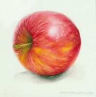 Side of an Apple by Susaleena