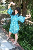 blue asian design dress by Stardom7