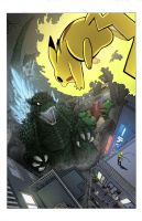 Godzilla_vs_Pikachu_colors by gfan2332