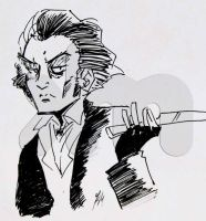 line art sweeney todd by Lain444
