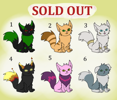 (SOLD OUT) Adoptable Kitties: 5-10 points by His-Bushman