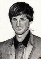 Logan Lerman by cindy-drawings