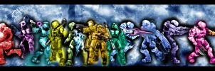 Halo 3  Spartan Squadron by SangheiliArtist by AzureParagon