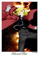Edward Elric Solo3 Drawing by Andy721