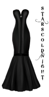 Elegant Black dress png by StarsColdNight
