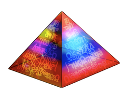 Rainbow Pyramid by davidwpaul