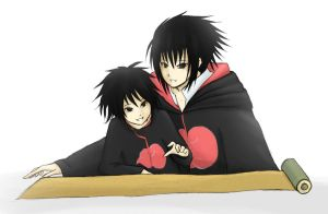 PC: Sasuke and Kaiser by FeatherHarp