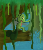 Gift : Harvey the Treecko by Lauzi