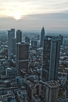 Frankfurt Maintower HDR by Kus3nuss