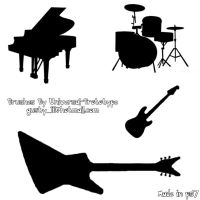 Musical Instrument Silhouettes by Universal-Prototype