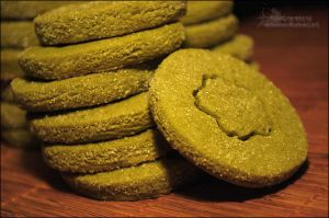 Green Tea Shortbread Cookies by asainemuri