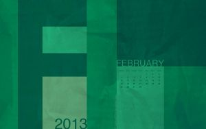 Graphical Desktop Wallpaper Calendar February 2013 by Lahmia2705