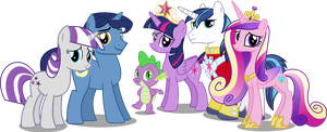 Twilight Sparkles Family by Vector-Brony