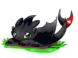 Chibi Toothless by Zoruannartist68