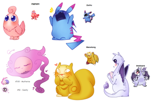 Fakemon Collection by Ruhianna
