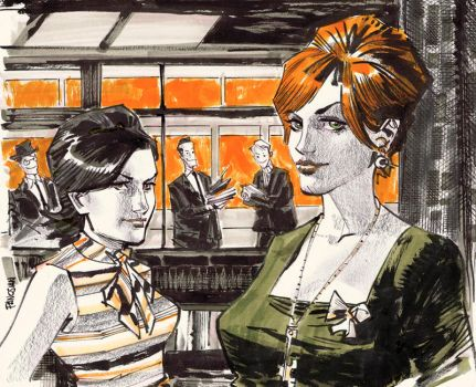 Peggy and Joan by urban-barbarian