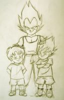 Vegeta's grandsons by Ingridda