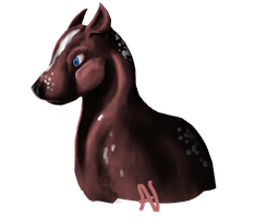 Bambi Dog by onimenotokito
