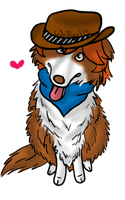 Red Border Collie Gaian by Wolfgrl13