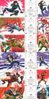 MARVEL SKETCH CARDS- 2 by benitogallego