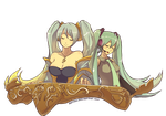 Sona and Miku by Artsed