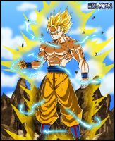 Son Goku Super Saiyan 2 by DBZwarrior