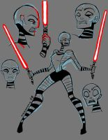 Asajj Ventress sketch stuff by Ju-la
