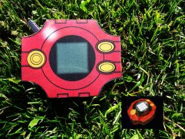 [Digimon] Soras Digivice - Papercraft by Mixowelle