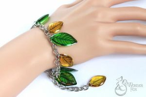 Leaves. Bracelet. by Wonder-fox