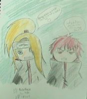 Chibi Deidara and Sasori by KazekageTwitch