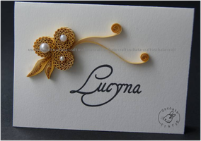 Quilling - golden anniversary/name tag 2 by Eti-chan