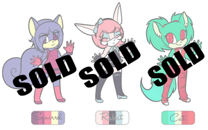 Chibi Adoptables(CLOSED) by SweetestCatnip