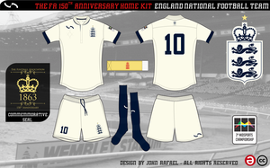 England - 150th Anniversary Collection - Home Kit by SirJohnRafael