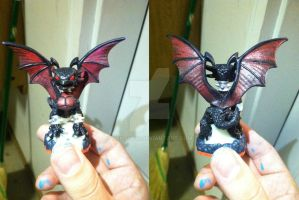 Skylanders: Custom Red Eyes Black Cynder by neilsugg