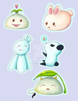 Cute Chibi stickers by artbykurisu