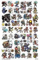 VG and Anime Sticker Sheet by Kaigetsudo