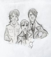 Byron, Atlas and Peter by Woodpeckery