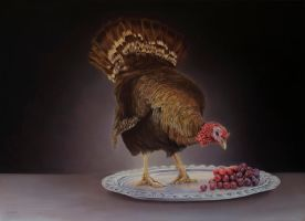 Turkey and grapes by deRaat