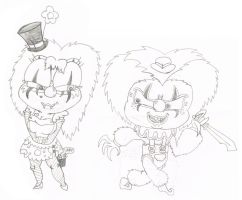 chucky and tiff as killclowns by sixteen6stars