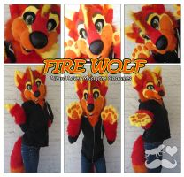 Fire Wolf-Partial by TheGreenCoyote