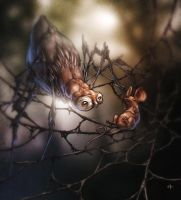 Spider owl. by glitchritual